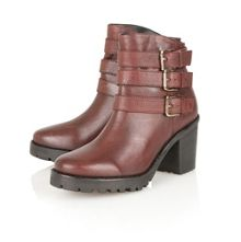Philomena leather ankle boots