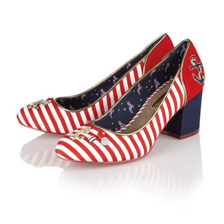 Babycham Rochelle anchor ladies court shoes