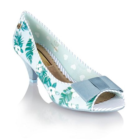 Babycham Uma hawaiian ladies peep-toe shoes