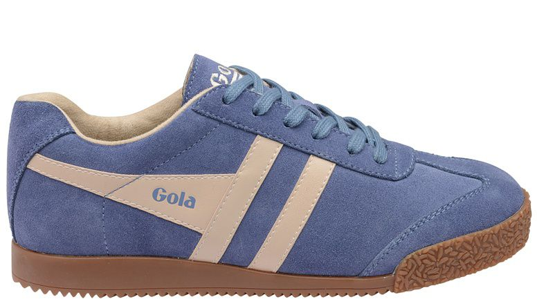 Gola Gola Harrier suede ladies trainers, Charcoal