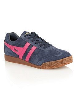 Harrier suede navy/fuchsia trainers
