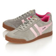 Harrier suede grey/pink trainers