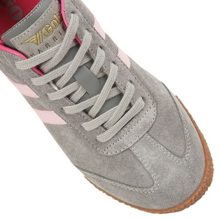 Gola Harrier suede grey/pink trainers