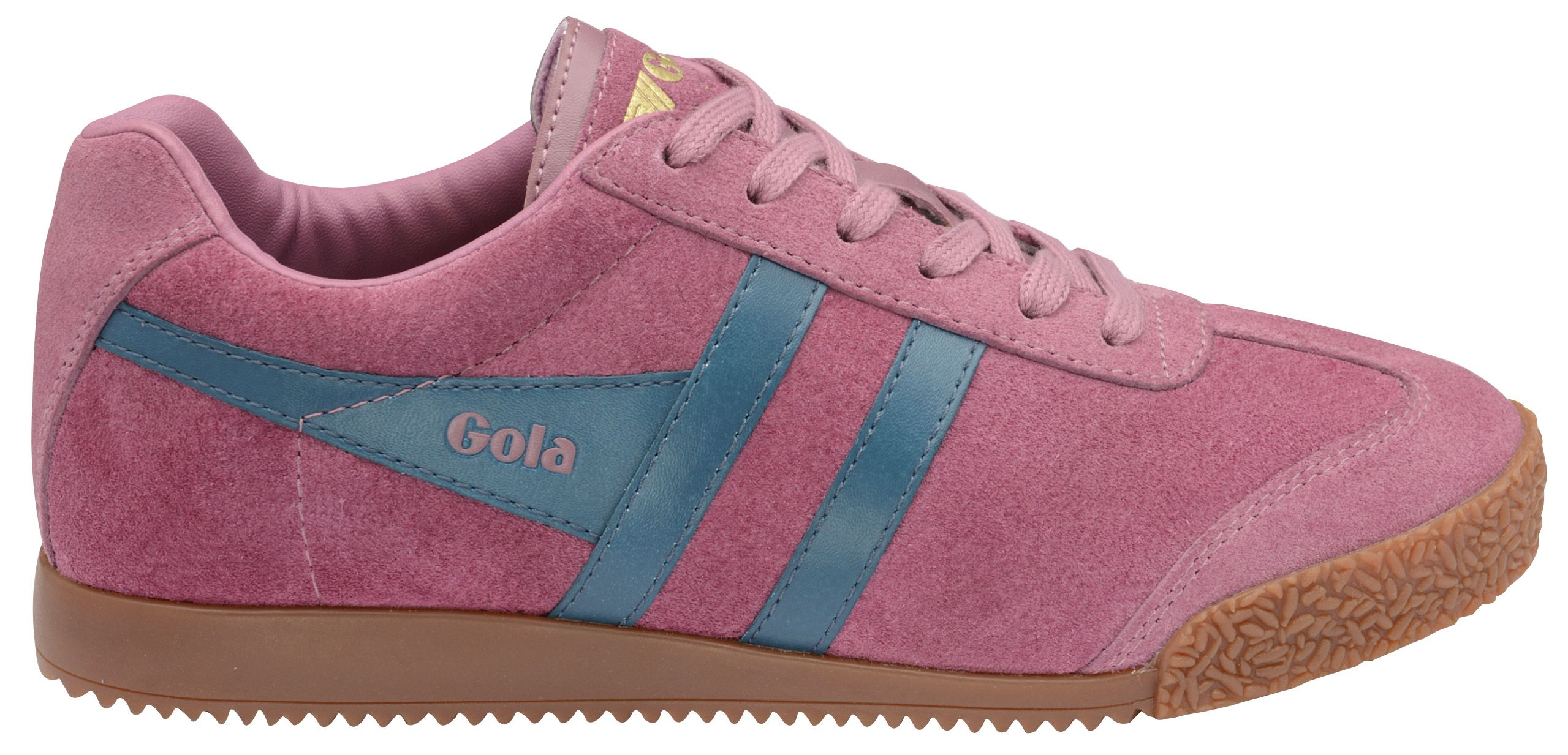 Gola Gola Harrier suede dusky pink/teal trainers, Pink