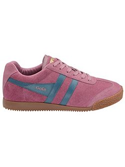 Harrier suede dusky pink/teal trainers