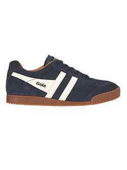 Harrier suede navy/orange trainers