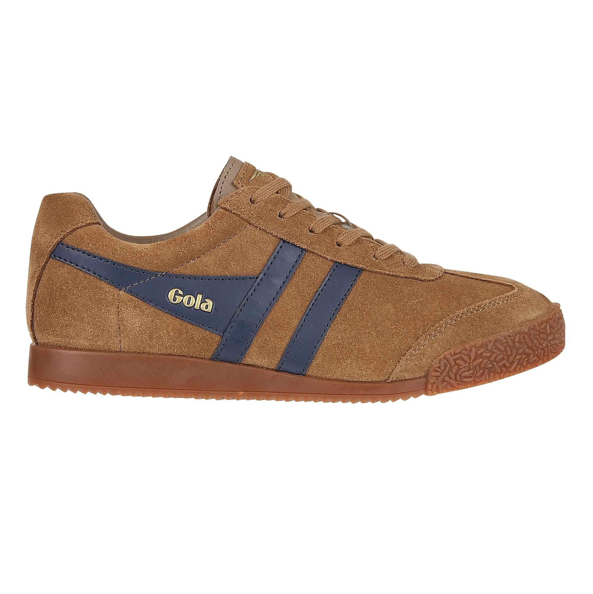 Gola Gola Harrier suede tobacco/navy trainers, Brown