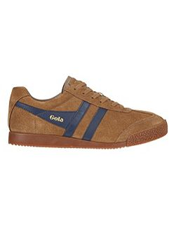 Harrier suede tobacco/navy trainers