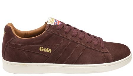 Gola Equipe suede burgundy trainers