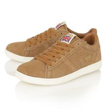 Equipe suede tobacco trainers