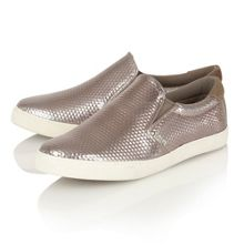 Gola Delta hex pewter trainers