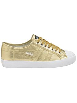 Coaster metallic lace up trainers