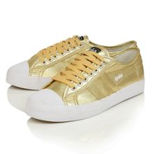 Gola Coaster metallic lace up trainers