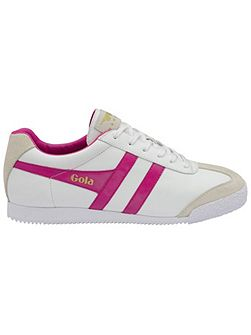 Harrier leather lace up trainers