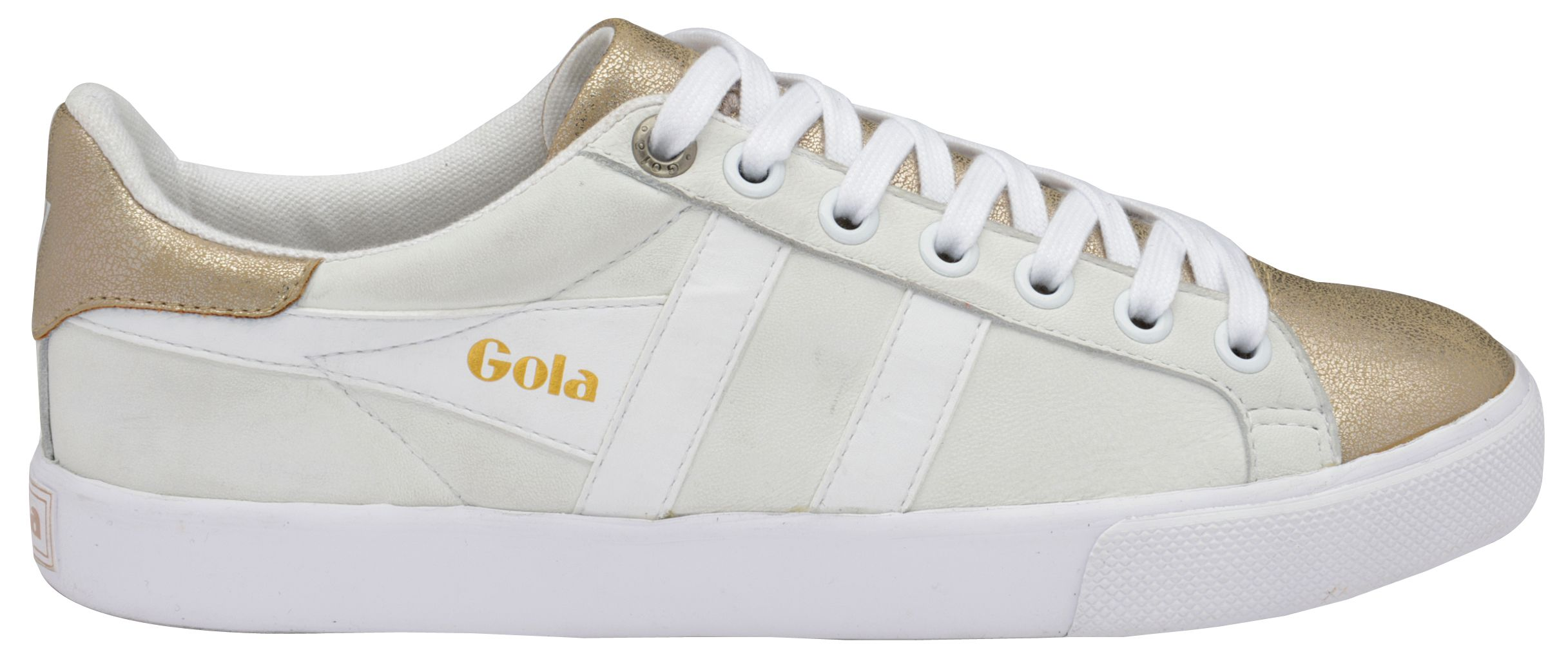 Gola Gola Orchid metallic lace up trainers, White