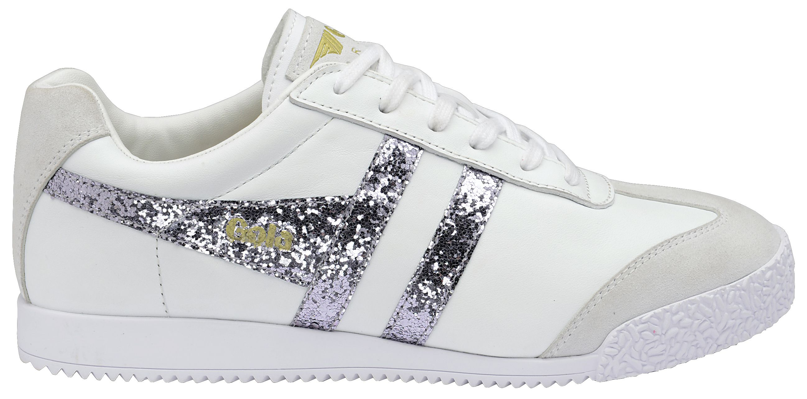 Gola Gola Harrier glitter lace up trainers, White