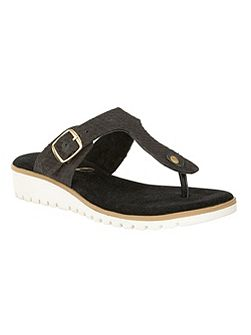 Stowe slip on T-bar sandals