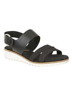 Norwell heeled strappy slip on sandals