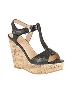Westport wedge heeled T-bar sandals