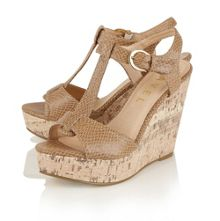 Ravel Westport wedge heeled T-bar sandals