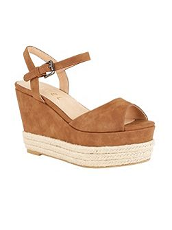Easton peep toe wedge heeled sandals