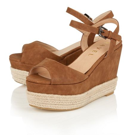Ravel Easton peep toe wedge heeled sandals