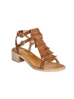 Almira stacked heel open toe sandals