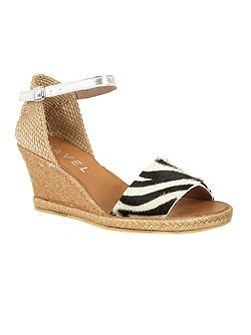 Lawton peep-toe wedge heeled sandals