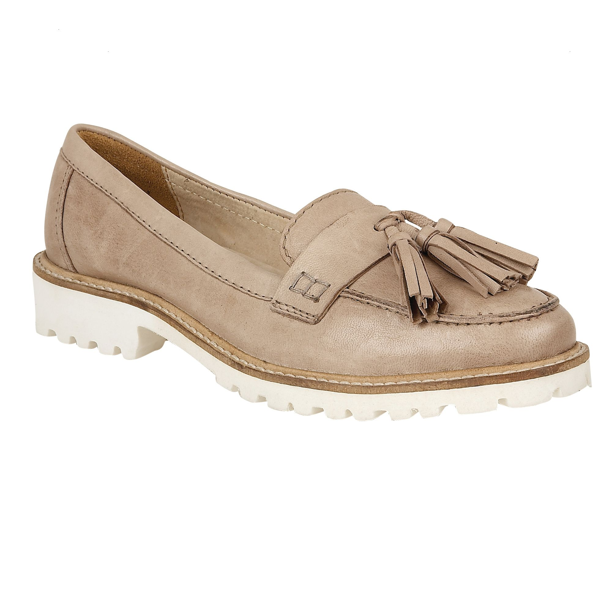 Ravel Ravel Midway cleated sole slip on loafers, Ecru