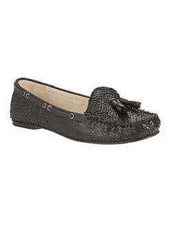 Eloy snake effect slip on loafers