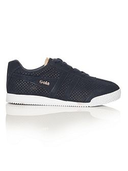 Harrier Glimmer suede trainers