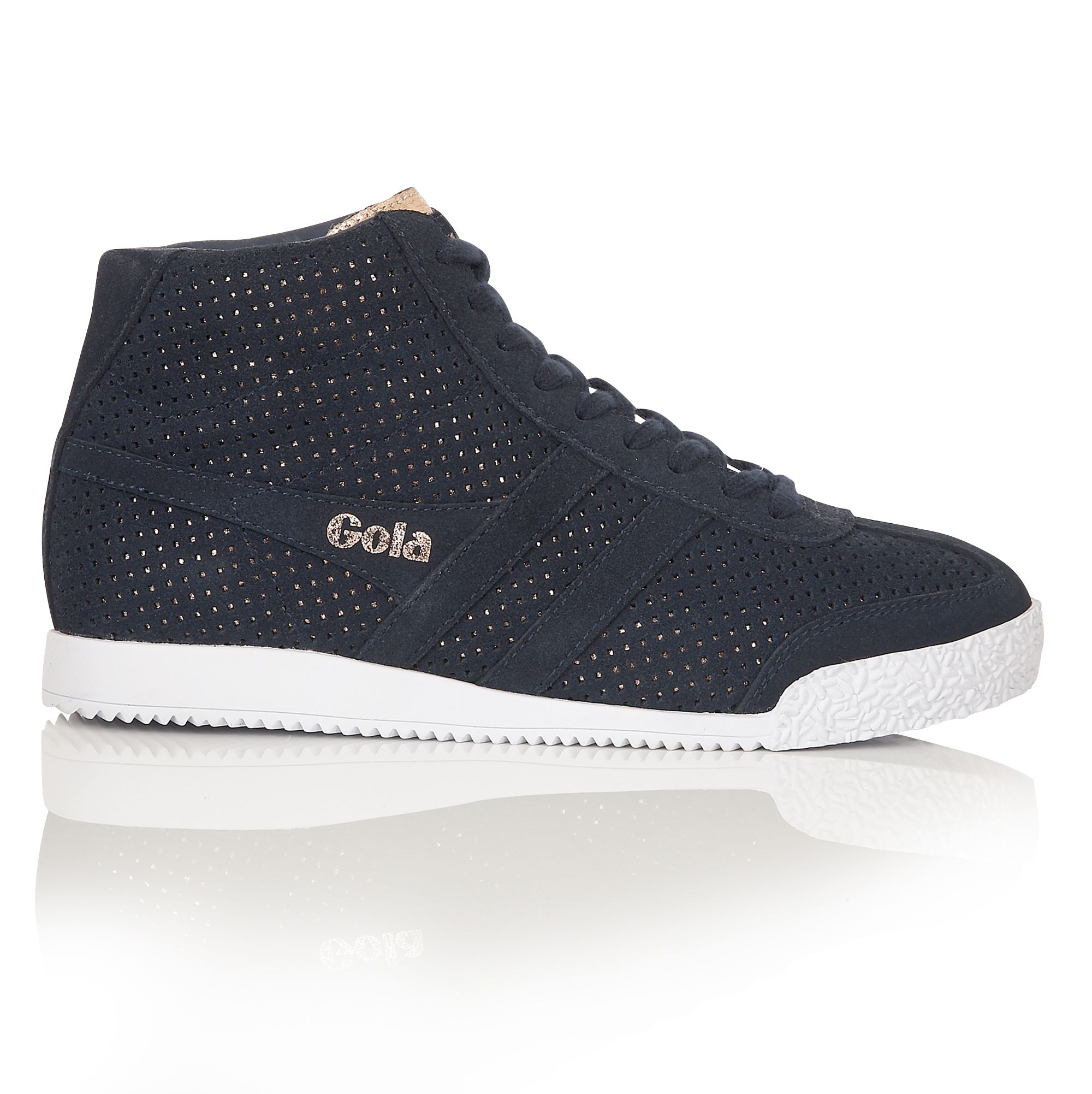 Jacobson Jacobson Harrier High Glimmer suede trainers, Navy