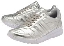 Jacobson Relay Metallic lace up trainers