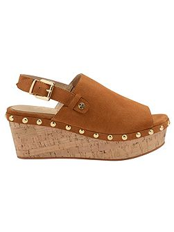 Cutler Ankle Strap Cork Wedges