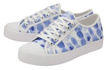 Jacobson Coaster Print lace up trainers