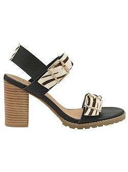 Dorris Open Toe Block Heel Sandals