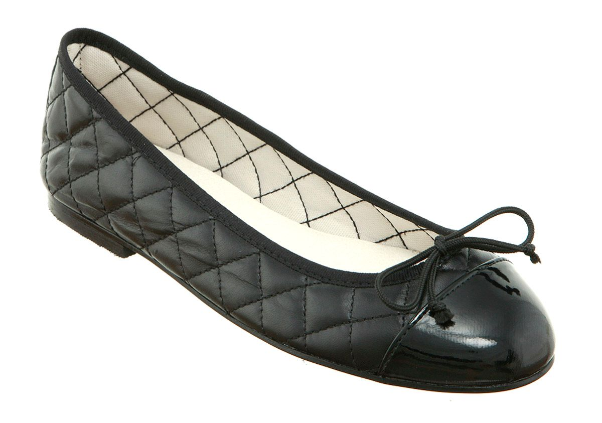 Cecilia toe-cap ballerina shoes