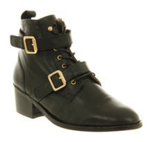 Domino Strap Ankle Boots