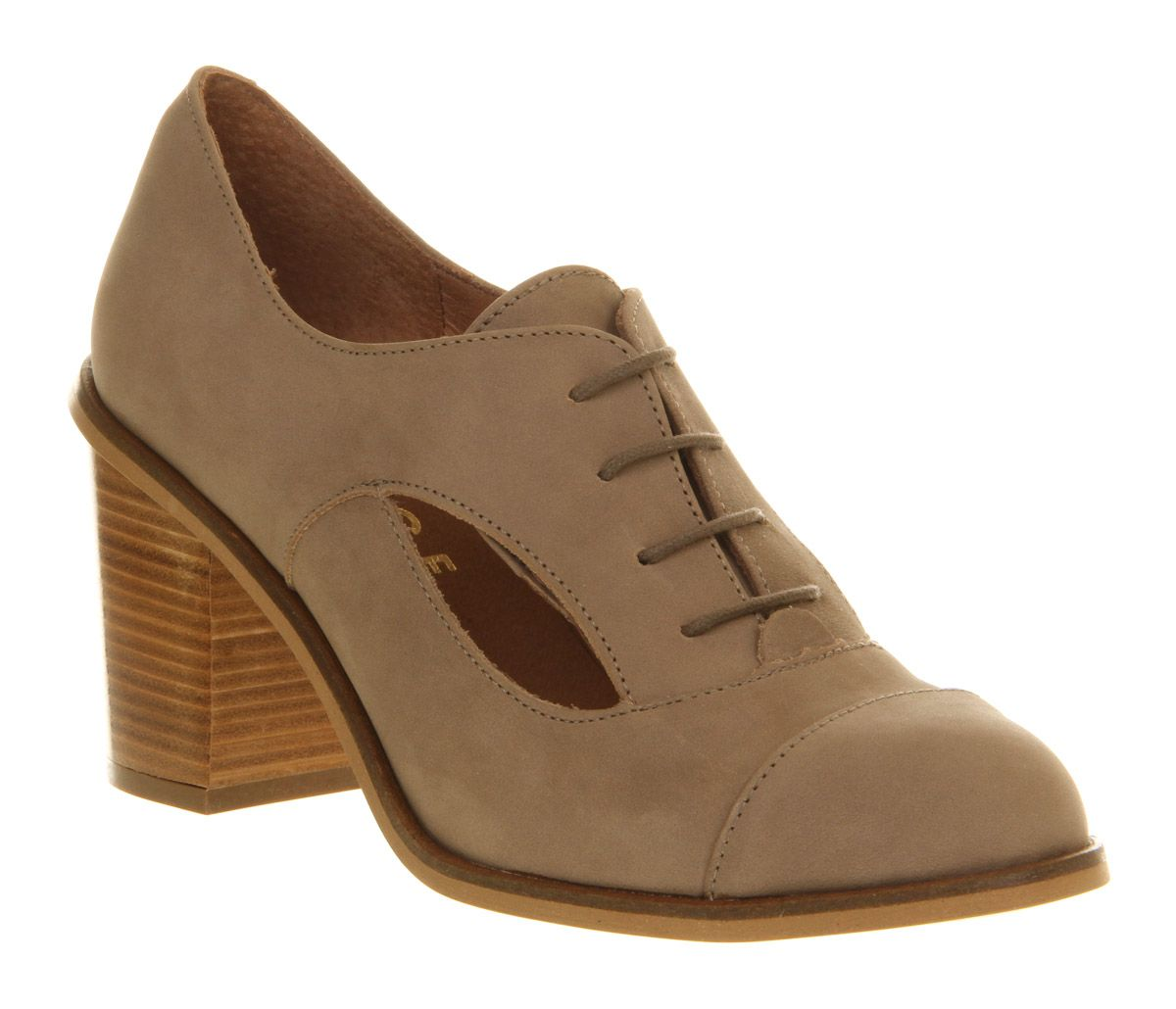 Lottie block heel brogue shoes