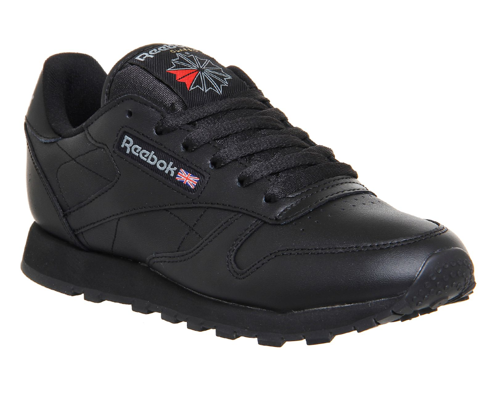Reebok reebok classic leather trainers black octer for Quality classic house of fraser