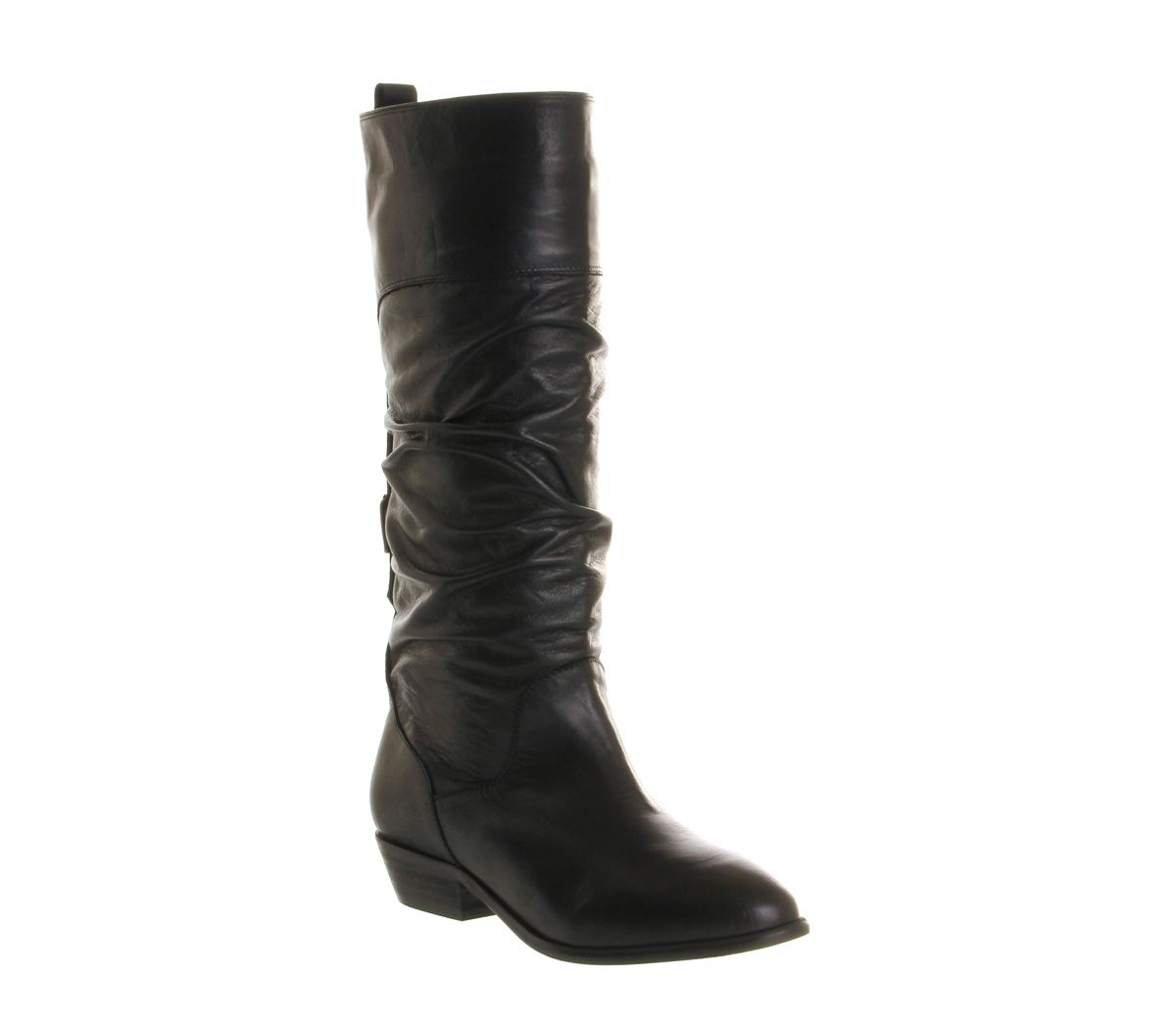 Office Ace slouch boots Black Leather
