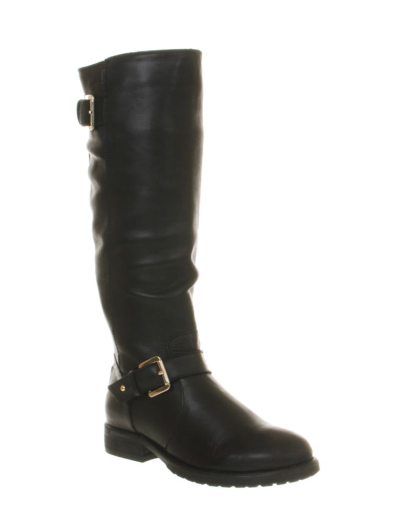 Ambition biker knee high boots