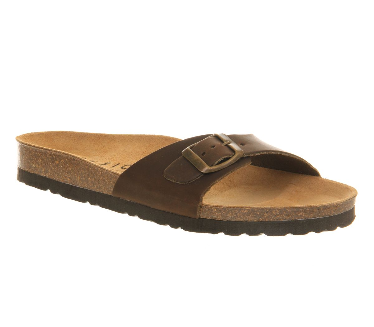 Icon footbed flat slip on sandals