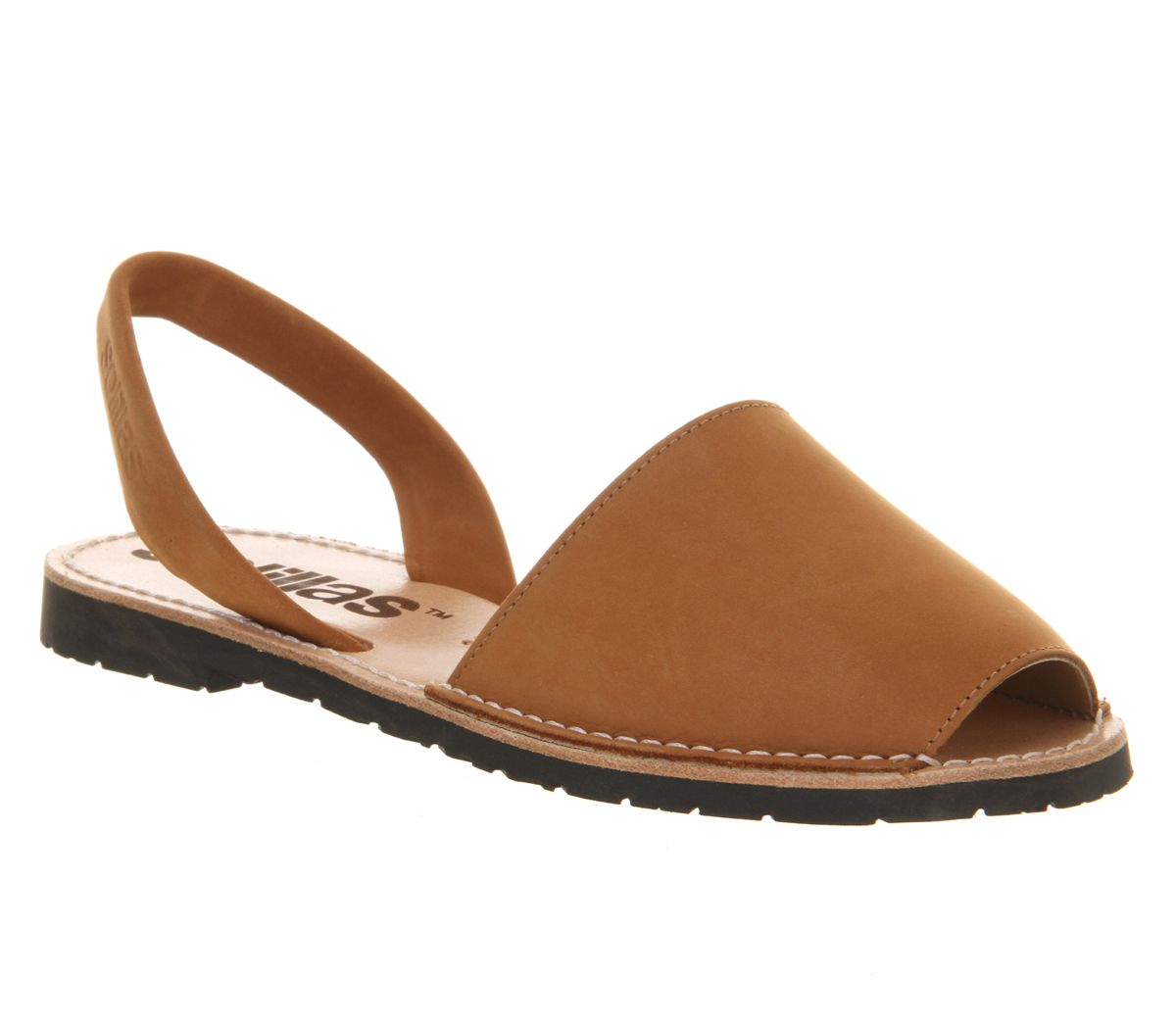 Solillas 2 part sandals, Tan