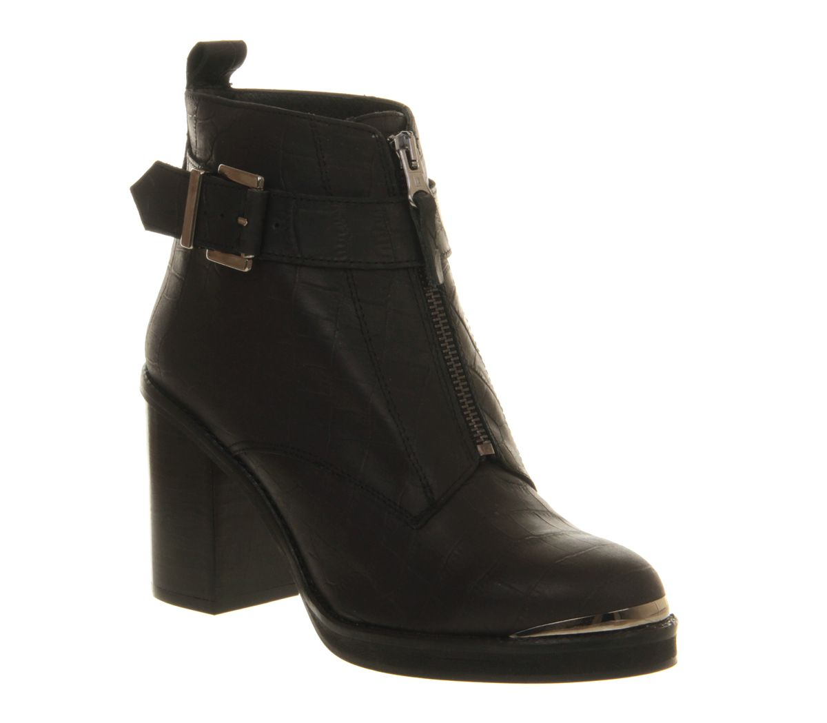 Boy front zip ankle boots