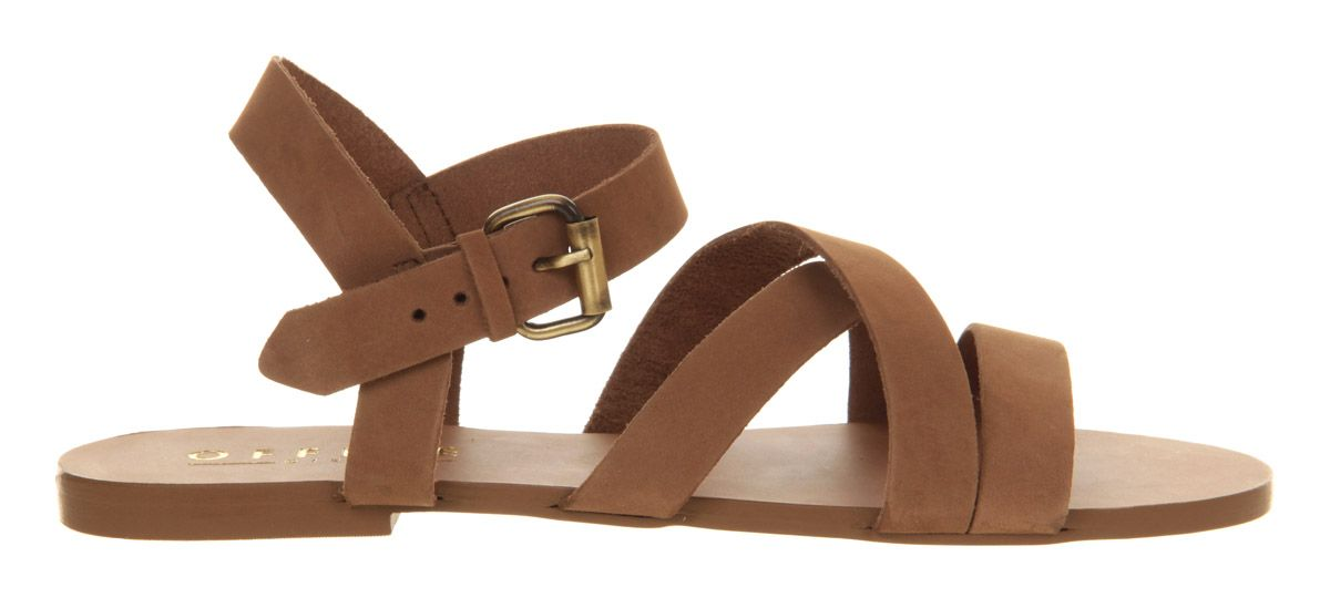 Hawaii leather flat buckle sandals