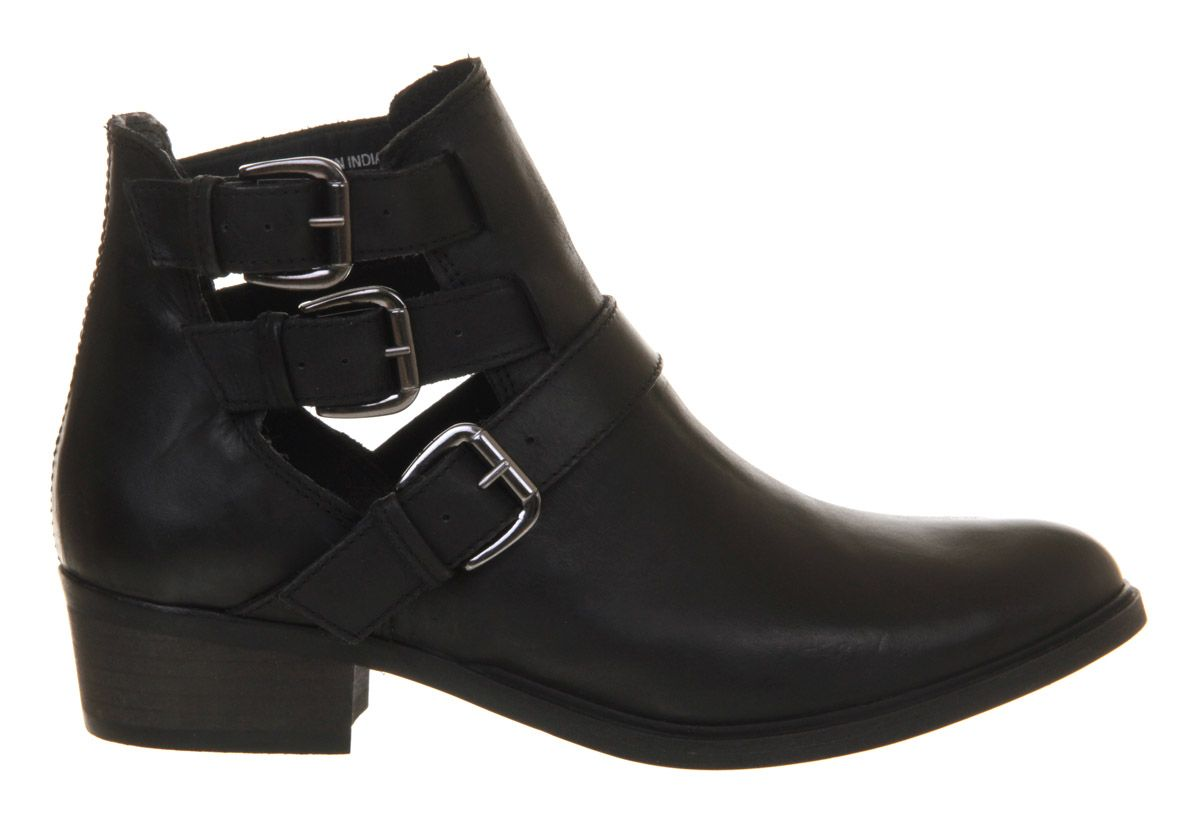 Manston leather point toe block heel ankle boots