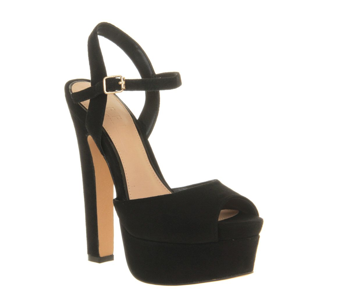 Right on time suede peeptoe platform shoes