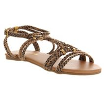 Halo flat buckle sandals