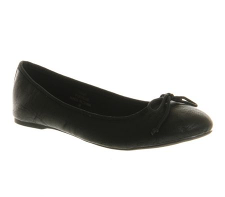 Office Karmen round toe flat slip-on ballerina shoes